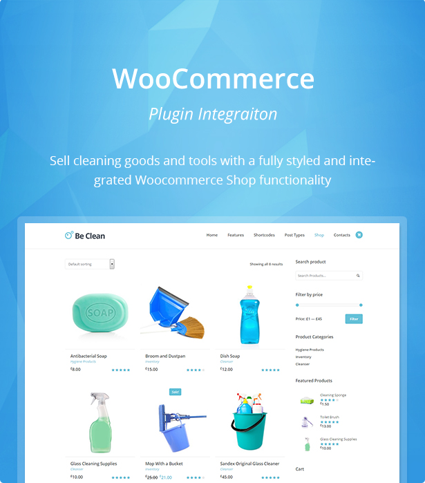 Be Clean – Cleaning Company, Servicio de mucama & Tema de WordPress ...