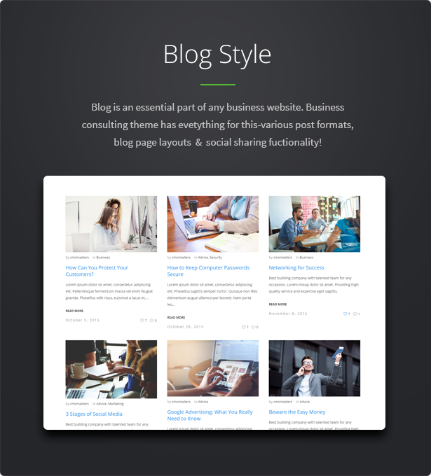 consulting wp theme