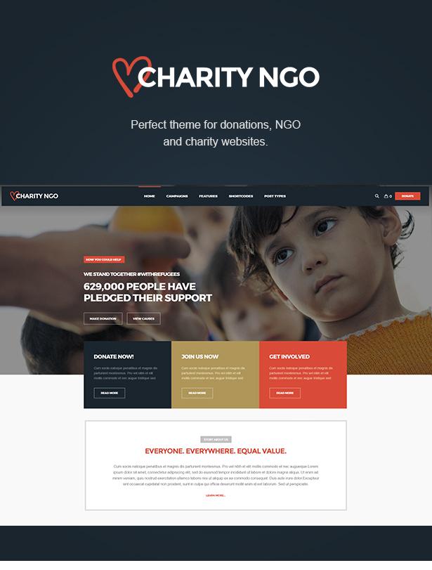 WordPress theme Charity NGO - Donation & Nonprofit NGO Charity WordPress Theme (Charity)