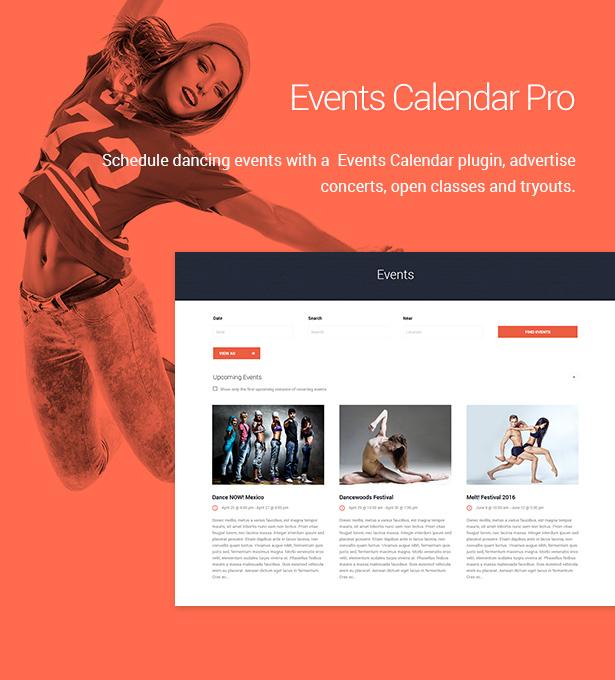 Dance Studio - WordPress Theme for Dancing Schools & Clubs Download