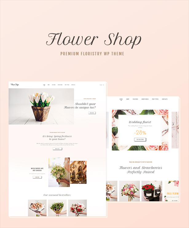 WordPress theme Flower Shop - Florist Boutique & Decoration Store WordPress Theme (WooCommerce)