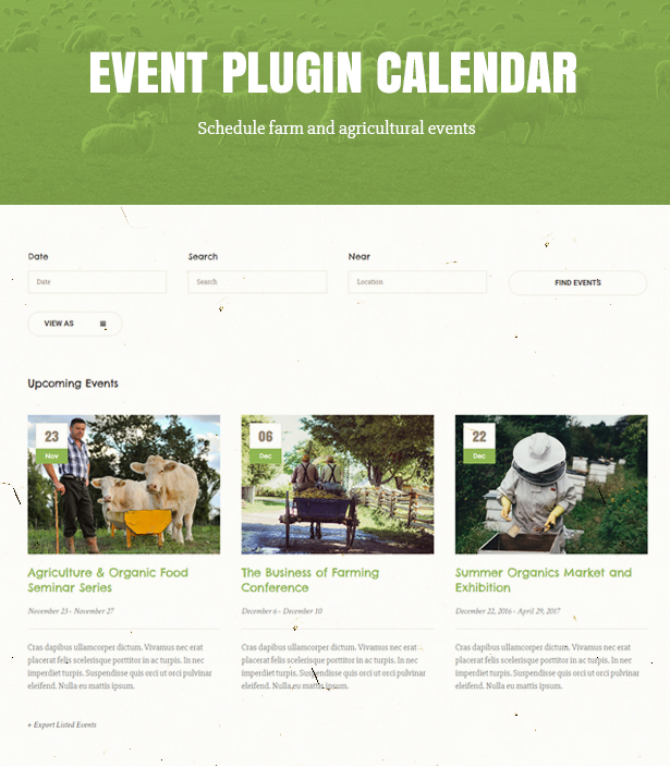 Green Farm – Organic Food Farm & Eco tienda WordPress Theme (Alimentos)
