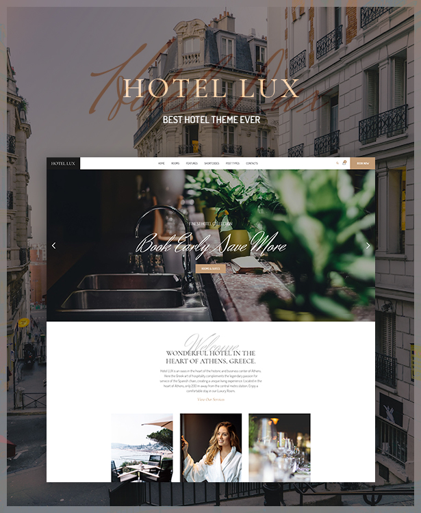 WordPress theme Hotel Lux - Resort & Hotel WordPress Theme (Travel)