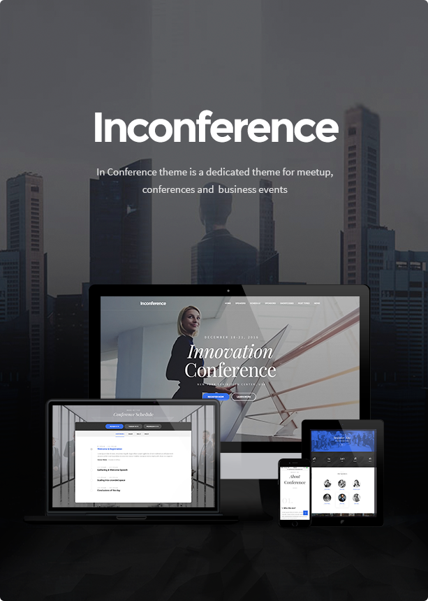 WordPress theme In Conference - Meetup & Conference Business Event WordPress Theme (Events)