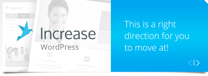Increase Wordpress - buy on Themeforest