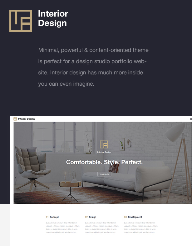 Interior design architecture design wp theme for Addison interior design decoration wordpress theme nulled