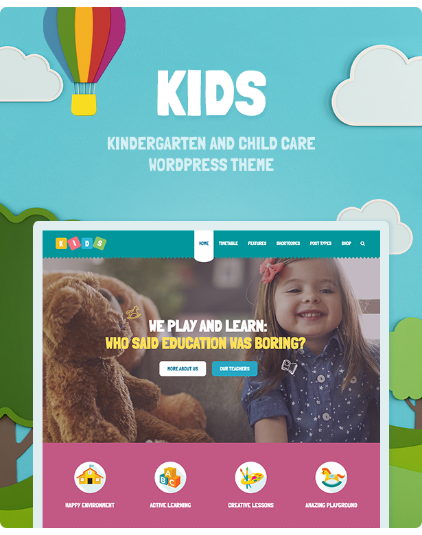 WordPress theme Kids - Day Care & Kindergarten WordPress Theme for Children (Children)