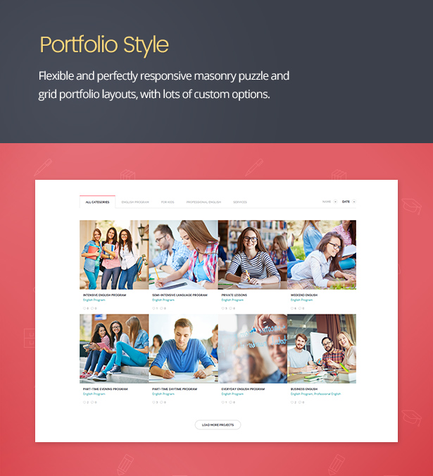 Language School - Courses & Learning Management System Education WordPress Theme