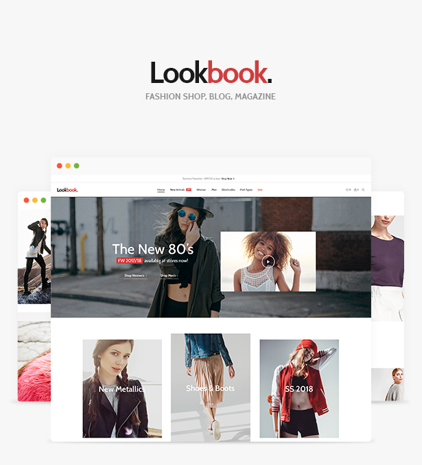 WordPress theme Lookbook - Fashion Store & Clothing Woocommerce Theme (WooCommerce)