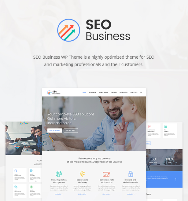 WordPress theme SEO Business - SEO, Social Media & Marketing WordPress Theme (Marketing)