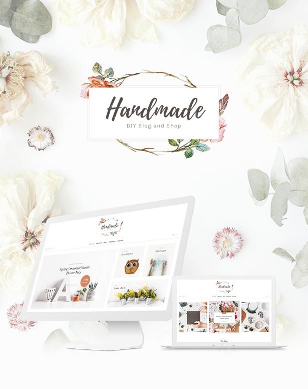 01 Handmade Shop - Handicraft Blog & Creative Store WordPress Theme theme WordPress