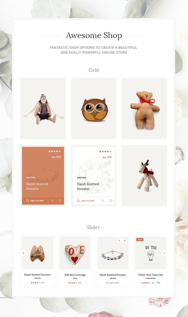 2 Handmade Shop - Handicraft Blog & Creative Store WordPress Theme theme WordPress