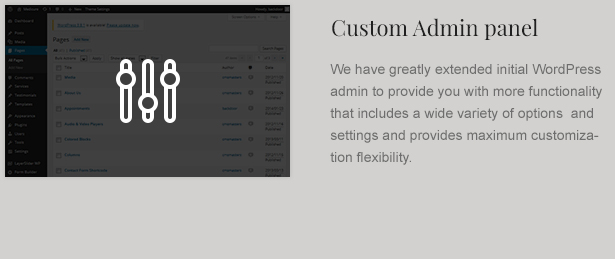 Law Business Theme Custom Admin Panel