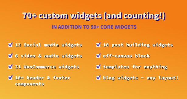 Blogger WordPress Theme Elementor Widgets